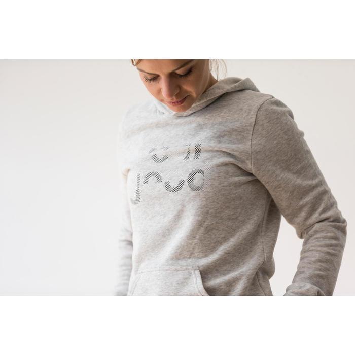 Sweat capuche Gym & Pilates femme chiné foncé - 1316876