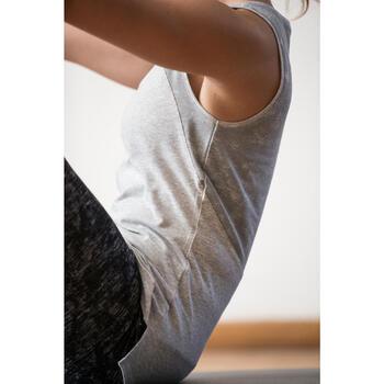 Débardeur 520 Gym & Pilates femme gris chiné clair - 1316879