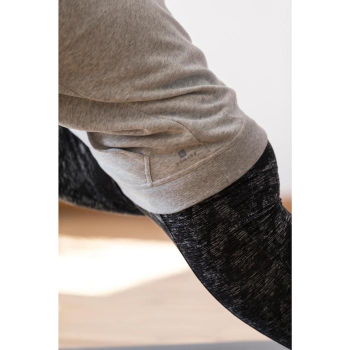 Sweat capuche Gym & Pilates femme chiné foncé - 1316886