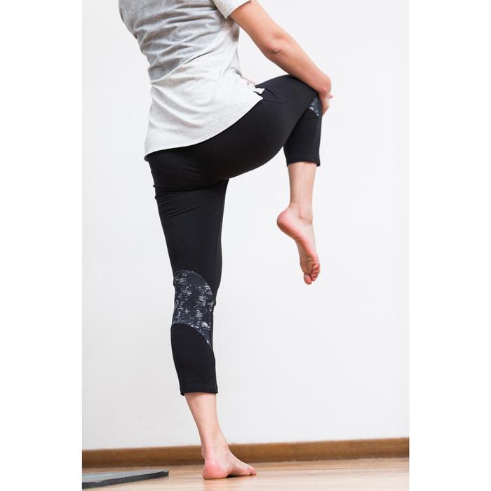 T-Shirt 520 manches courtes Gym & Pilates femme gris chiné clair - 1316888