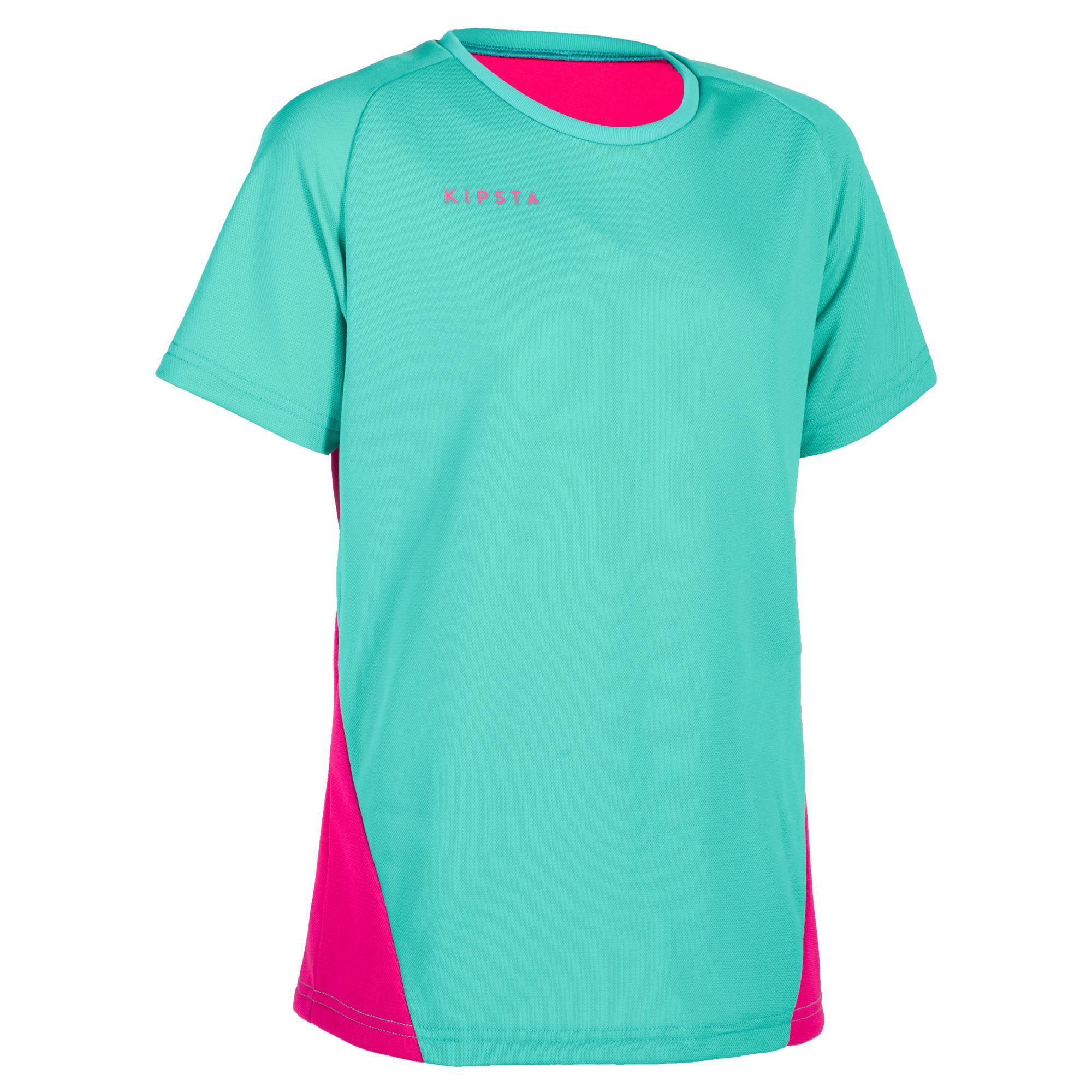 Kinder Volleyballtrikot V100 Kinder türkis pink   03583788170266