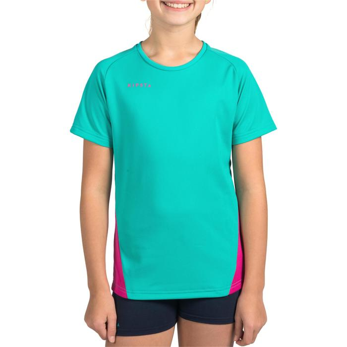 Maillot de volley-ball fille V100 bleu et - 1316904