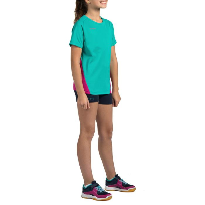Maillot de volley-ball fille V100 bleu et - 1316905