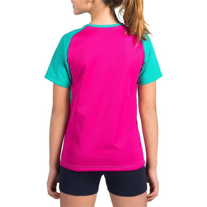 Volleyballtrikot V100 Kinder türkis/pink