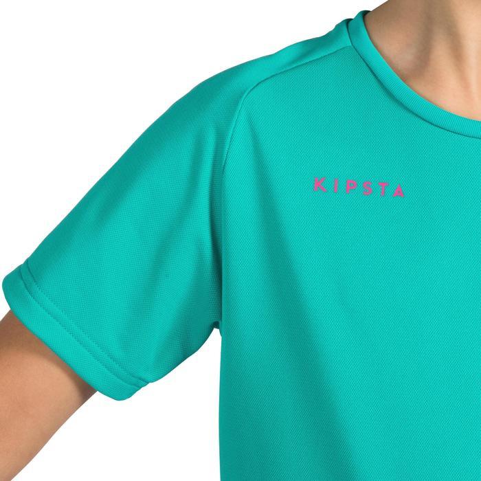 Maillot de volley-ball fille V100 bleu et - 1316909