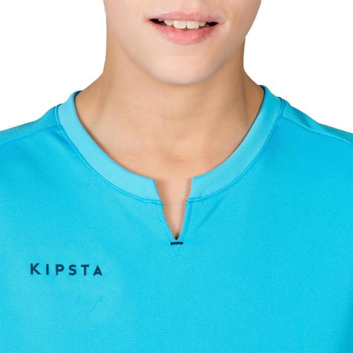 Jongensshirt voor veldhockey FH100 marineblauw/lichtblauw