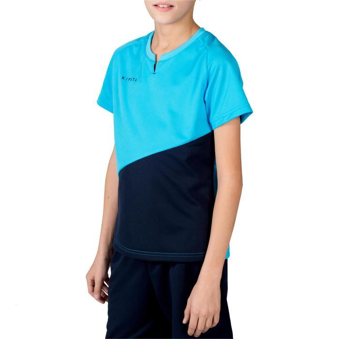 Camiseta de hockey sobre hierba niño FH100 azul marino y azul claro