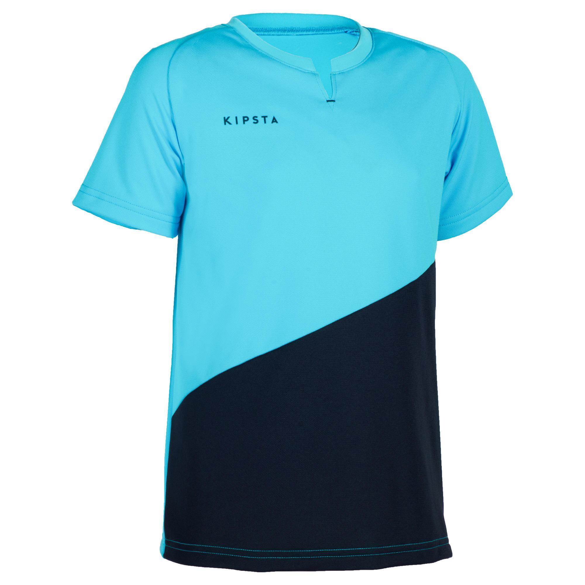 Kipsta Jongensshirt voor veldhockey FH100 marineblauw/lichtblauw