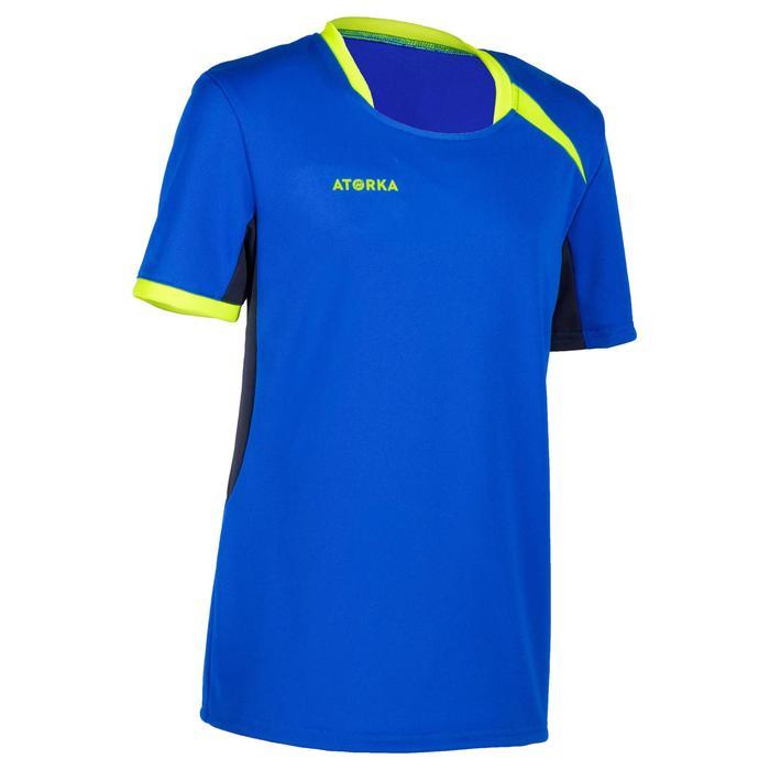 Camiseta de Balonmano Atorka H100 Niños Azul Amarillo