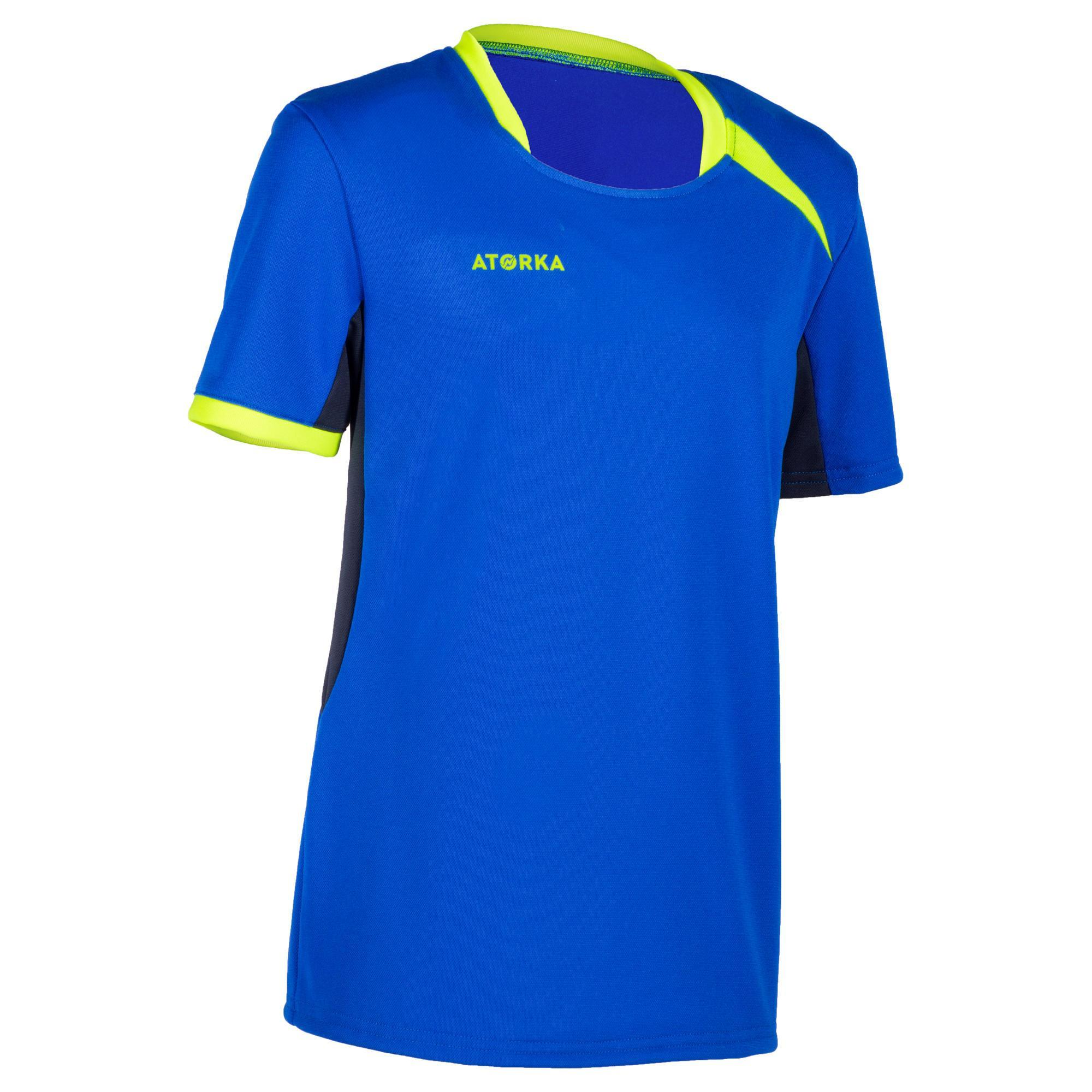 Atorka Handbalshirt kind H100 blauw / geel