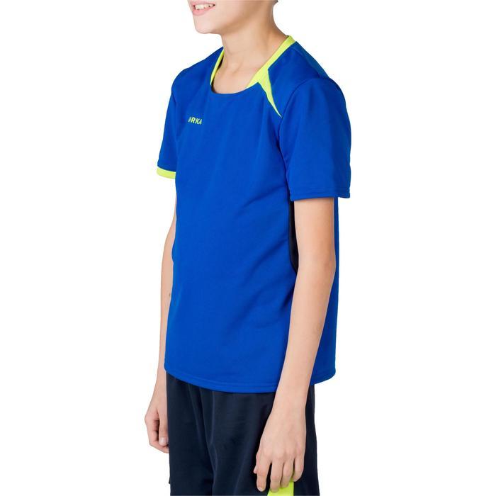 Maillot de handball H100 junior garçon bleu et jaune