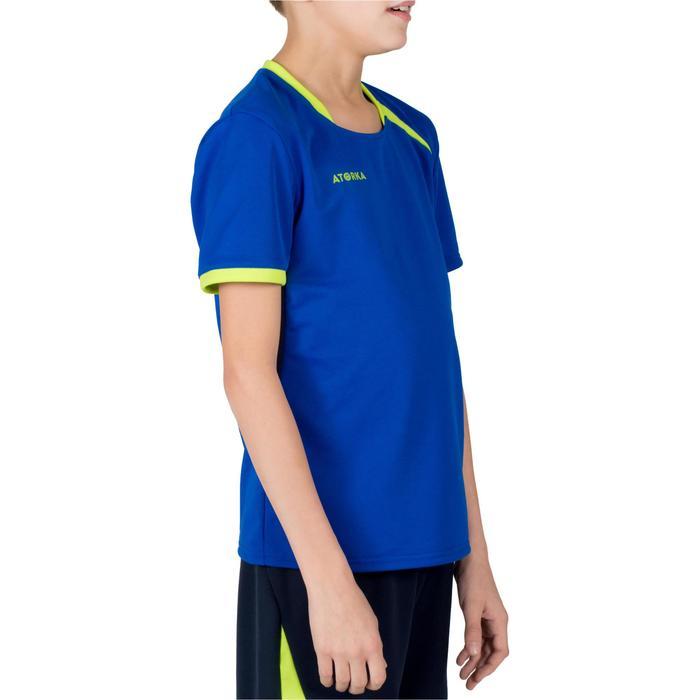 Camiseta de balonmano H100 junior niño azul y amarillo