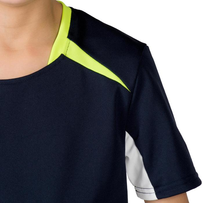 Camiseta de balonmano H100 júnior niño Azul marino y Amarillo