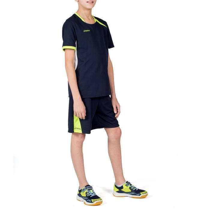 Handbalshirt H100 jongens marineblauw/geel