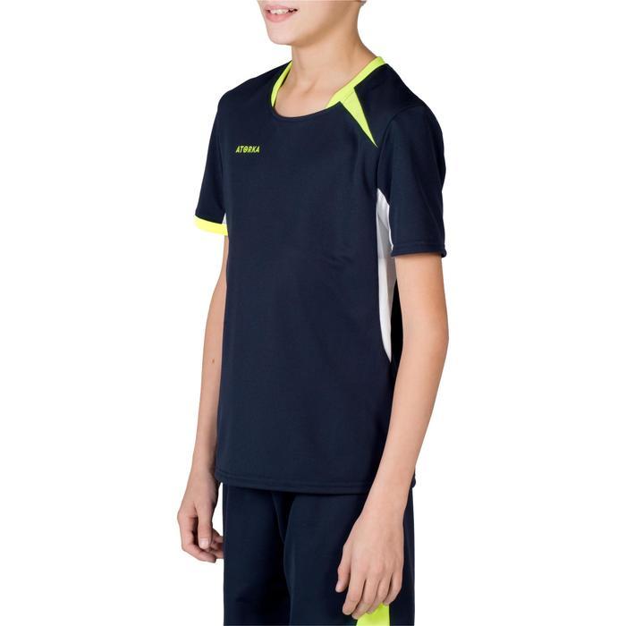Handballtrikot H100 Kinder marineblau/gelb