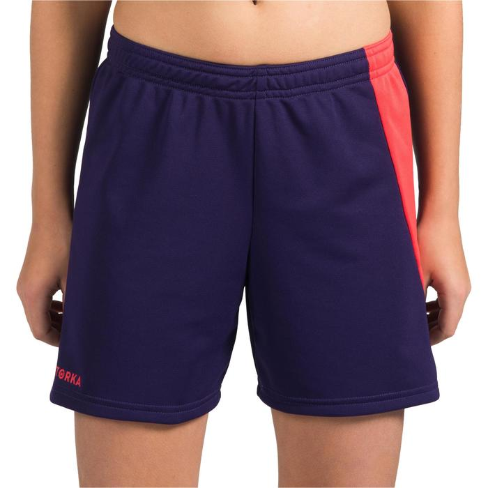 Short de handball H100 fille violet