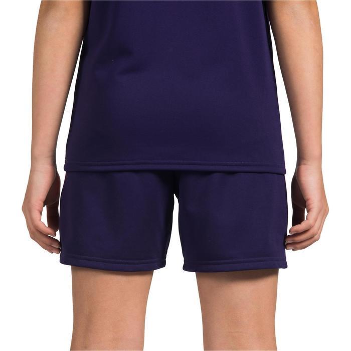 Handbalshort voor meisjes H100 paars
