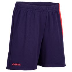Short de handball enfant H100 violet / rose