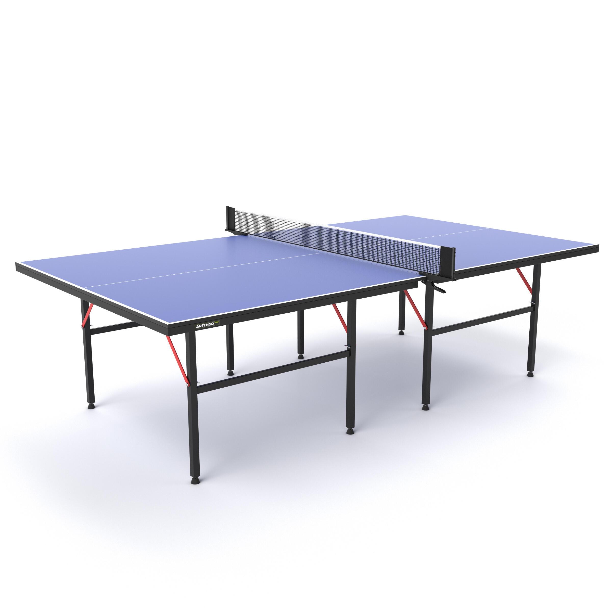 Photo de table-de-ping-pong-dinterieur-decathlon-ft720-bleu-artengo