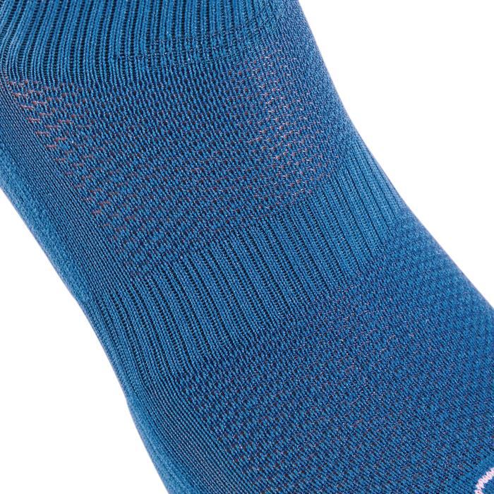 Loopsokken Comfort voor kinderen, hoog, set van 2 paar, blauw fluorood