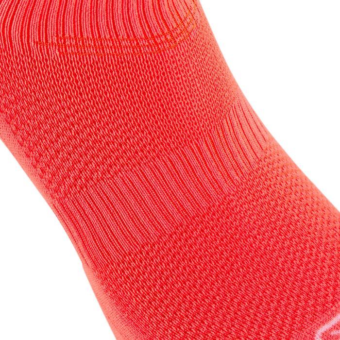 Chaussettes Athlétisme Enfant Confort Tige haute lot de 2 violet rose corail