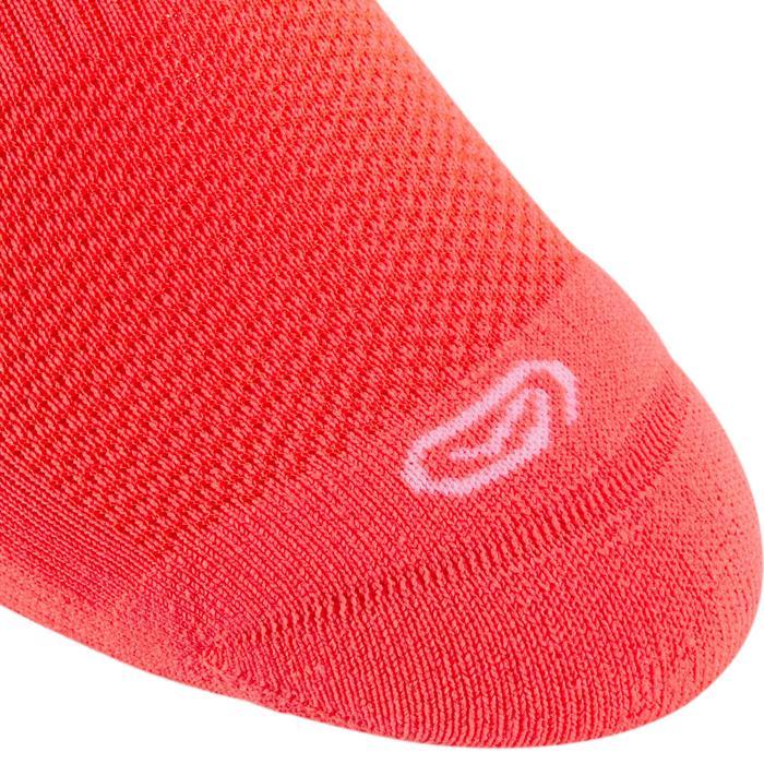 Lote de 2 calcetines atletismo para niños confort caña violeta rosa rojo coral