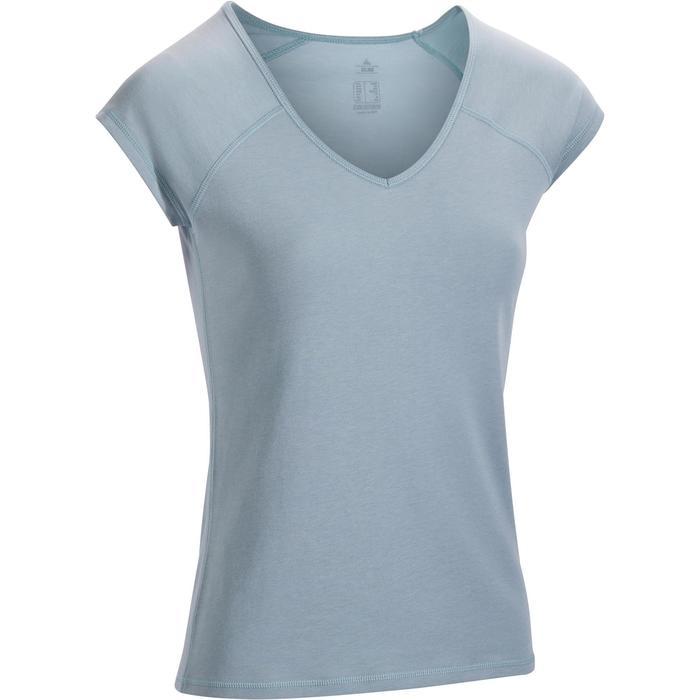 500 Women's Slim-Fit Stretching T-Shirt - Black - 1317384