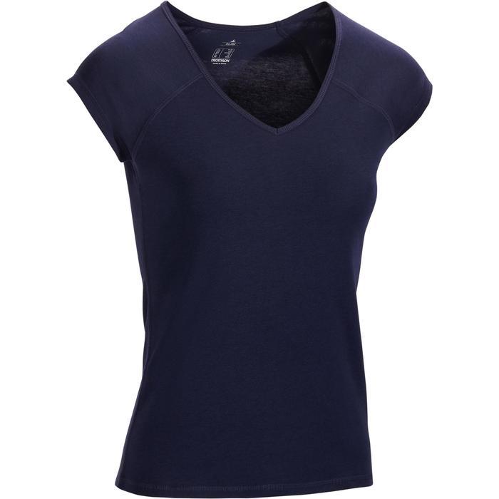 500 Women's Slim-Fit Stretching T-Shirt - Black - 1317386