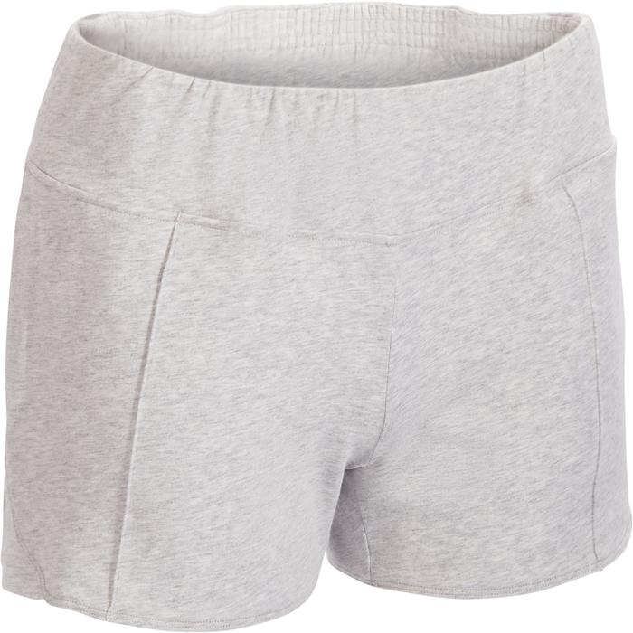 Short 520 Gym & Pilates Femme gris chiné clair - 1317388