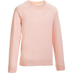 500 Women's Pilates & Gentle Gym Sweatshirt - Light Pink