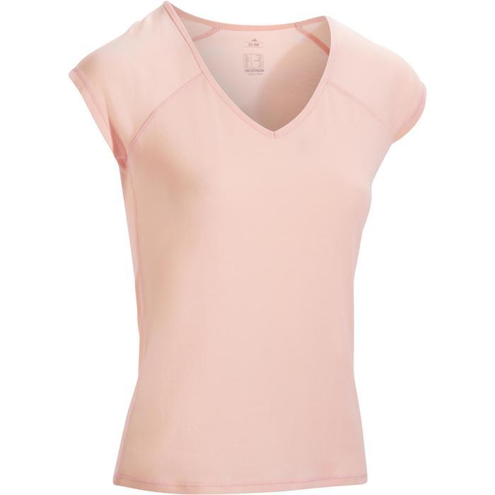 500 Women's Slim-Fit Stretching T-Shirt - Black - 1317390