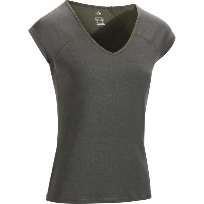 500 Women's Slim-Fit Stretching T-Shirt - Black - 1317392