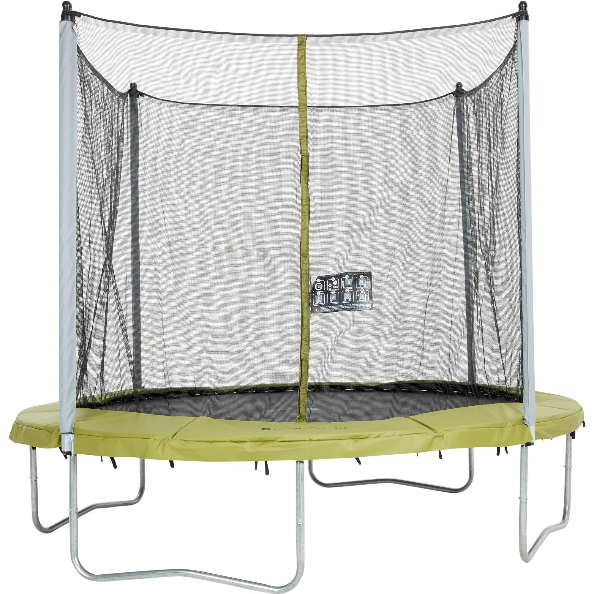 trampoline essential 300 filet de protection domyos by