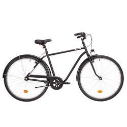 "City Bike 28"" Elops 100 HF hoher Rahmen schwarz"