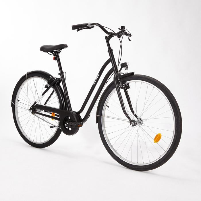 "City Bike 28"" Elops 100 LF Damen schwarz"
