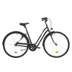 """City-Bike 28"""" Elops 100 tiefer Einstieg schwarz"""