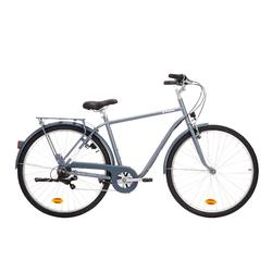 "City-Bike 28"" Elops 120 hoher Rahmen graublau"