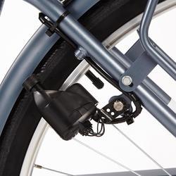"City Bike 28"" Elops 120 HF Herren graublau"