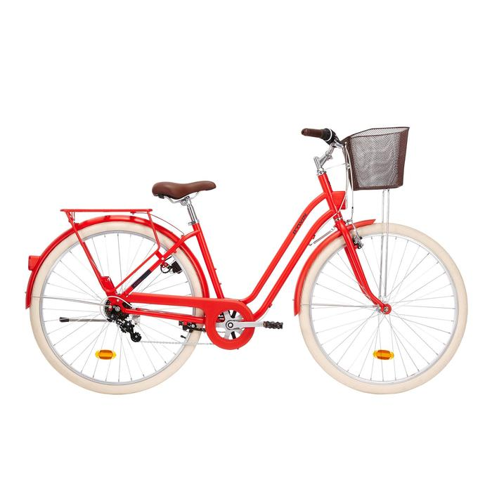"City Bike 28"" Elops 520 LF Damen rot"
