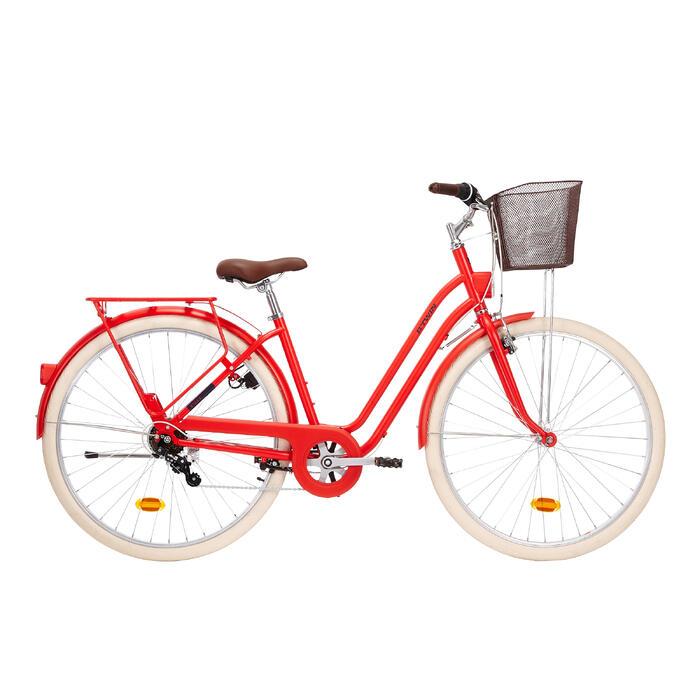 City Bike 28 Zoll Elops 520 LF Damen rot