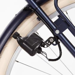 "City Bike 28"" Elops 520 HF hoher Rahmen blau"