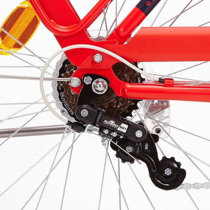 """City-Bike 28"""" Elops 520 tiefer Einstieg rot"""