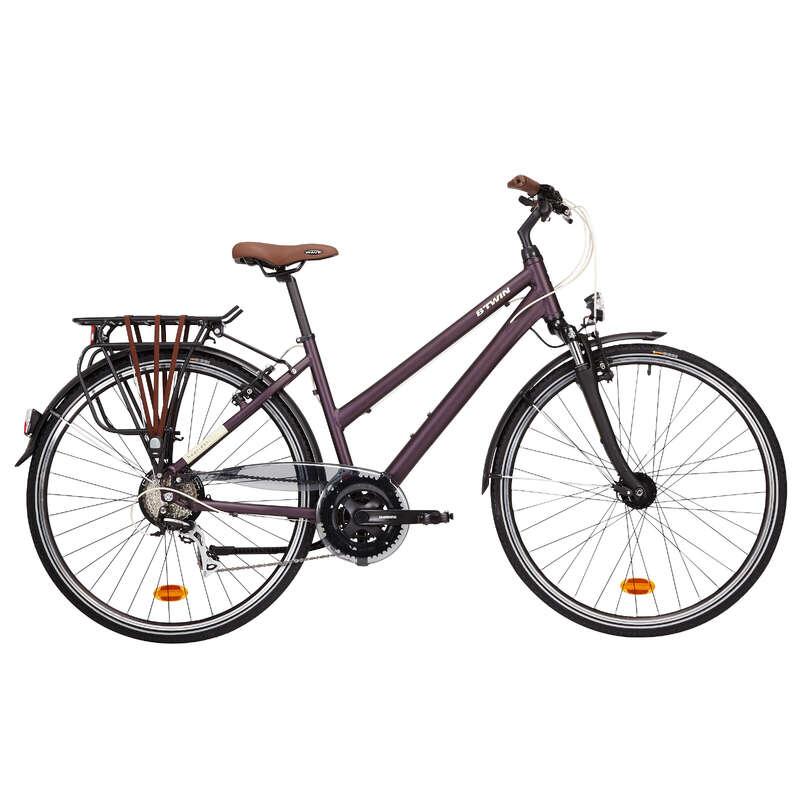 Bicicleta Cidade Distância Longa Bicicletas de Cidade - BICICLETA CIDADE HOPRIDER 500 B'TWIN - Bicicletas, Ciclismo Cidade