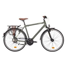 Stadsfiets voor lange afstanden Hoprider 500 hoog frame Hybride fiets