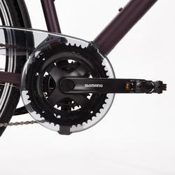 Stadsfiets voor lange afstanden Hoprider 500 lage opstap Hybride fiets
