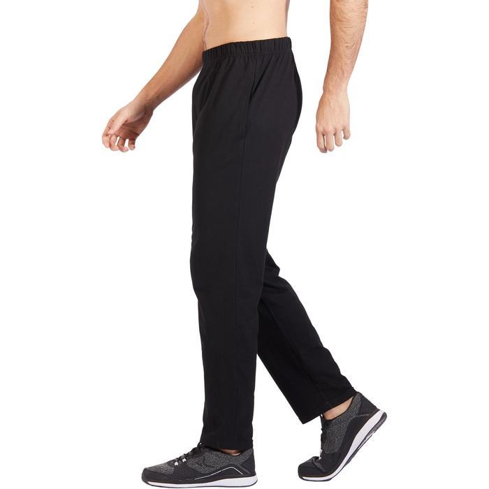 Jogginghose 100 Regular Pilates sanfte Gymnastik Herren schwarz