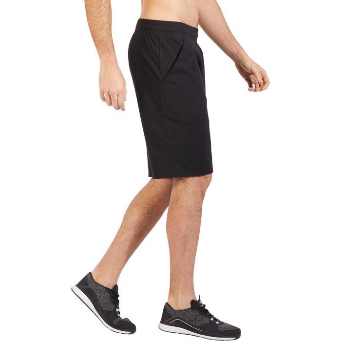 Short 500 regular au dessus du genou Gym Stretching noir homme - 1317721