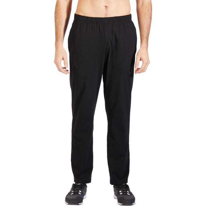 男款慢跑長褲100 - 黑色