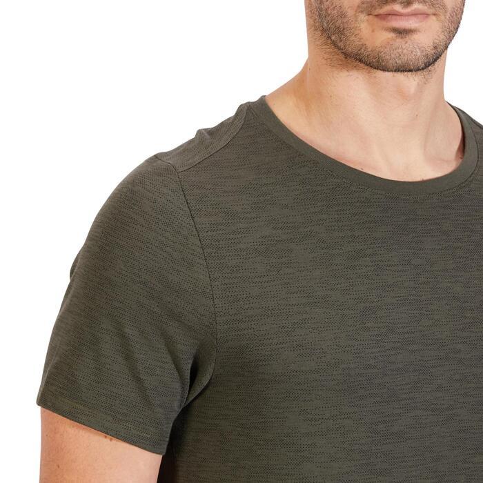 T-Shirt 520 regular col rond Gym & Pilates AOP homme - 1317744