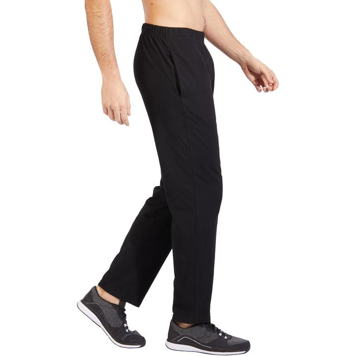 Jogginghose 100 Regular Gym Stretching Herren schwarz